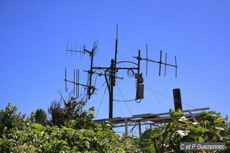 Les antennes sur le Piton l'Herminier