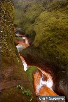 Canyon en amont de la première chute du Carbet